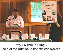 Your Name in Print, sold at the Windemere auction
