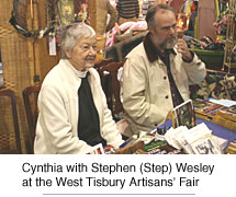 Cynthia with Stephen (Step) Wesley at the West Tisbury Artisans' Fair